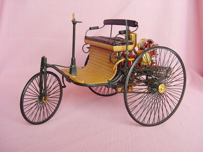 Mercedes Benz Patent Motor Car 1886 - With many 24 carat gold parts