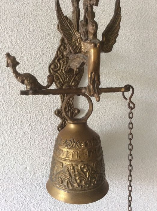 """S. MATHEWS + ST JOHANNES / S. LNCAS + S. MARCVS"" - Big church/Monastery Bell with hanging for sale"