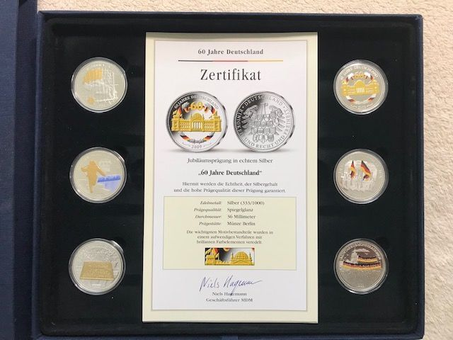"""Anniversary stamp """"60 years Germany"""" 20 coins, Germany - 2009 - Silver (333/1000)"""