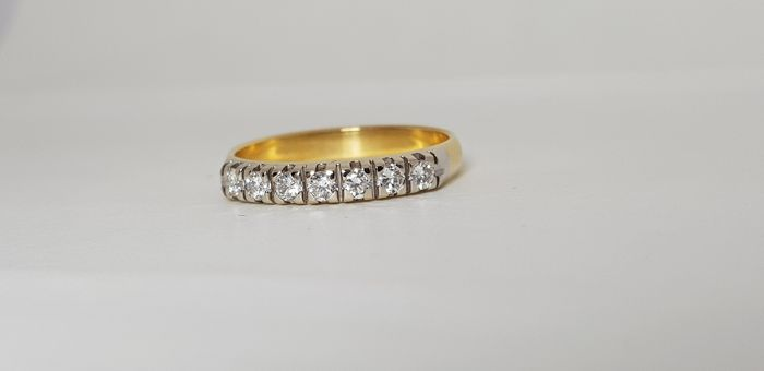 18 kt Gelbgold - Ring - 0.35 ct Diamant