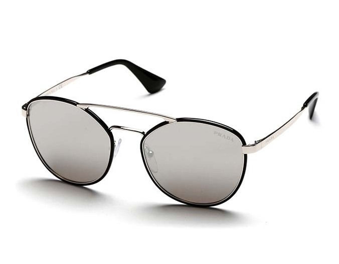 Prada - Silver Metal Aviator Steel - New - Made in Italy - 2019 Sunglasses