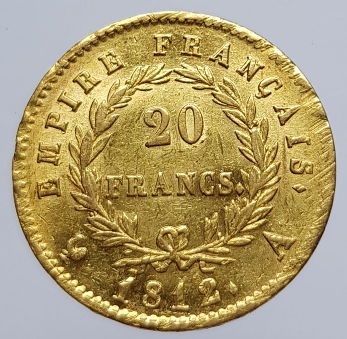20 Francs 1812-A Napoleon - Or