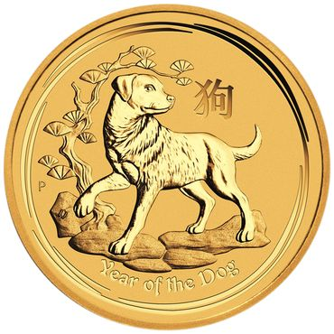 Australien - 25 Dollars 2018 Year of the Dog - 1/4 oz - Gold