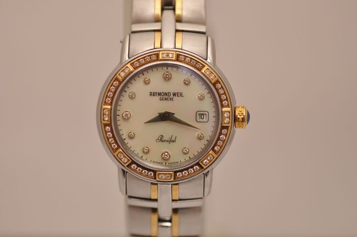 Raymond Weil - Parsifal Two-Tone Mother-Of-Pearl Diamond Dial 'NO RESERVE PRICE' - 9440 - Dames - 2000-2010