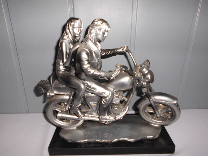 Decoratief object - Motorfiets / chopper - Mikay collection - Gesigneerd - 1980 (1 items)