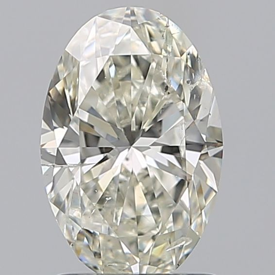 1 pcs Diamant - 1.50 ct - Ovaal - K - SI2