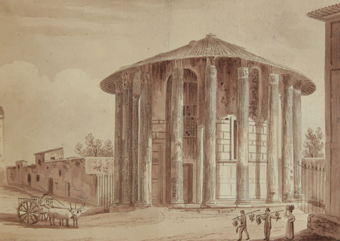 Agostino Tofanelli (1770-1834) - Temple attributed to Vesta, cleared