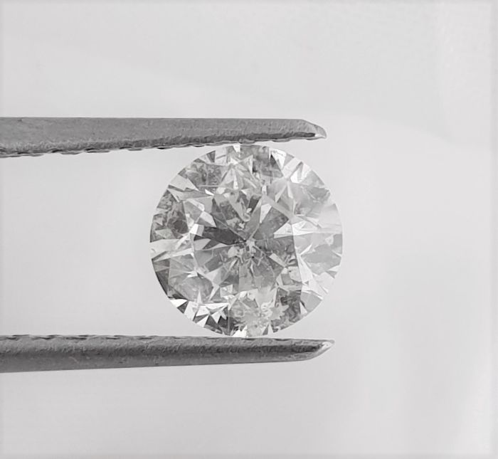 Diamant - 1.00 ct - Briljant - G - SI1