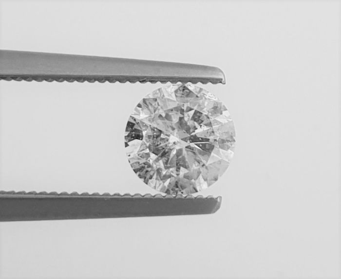 Diamant - 1.06 ct - Briljant - F - SI2