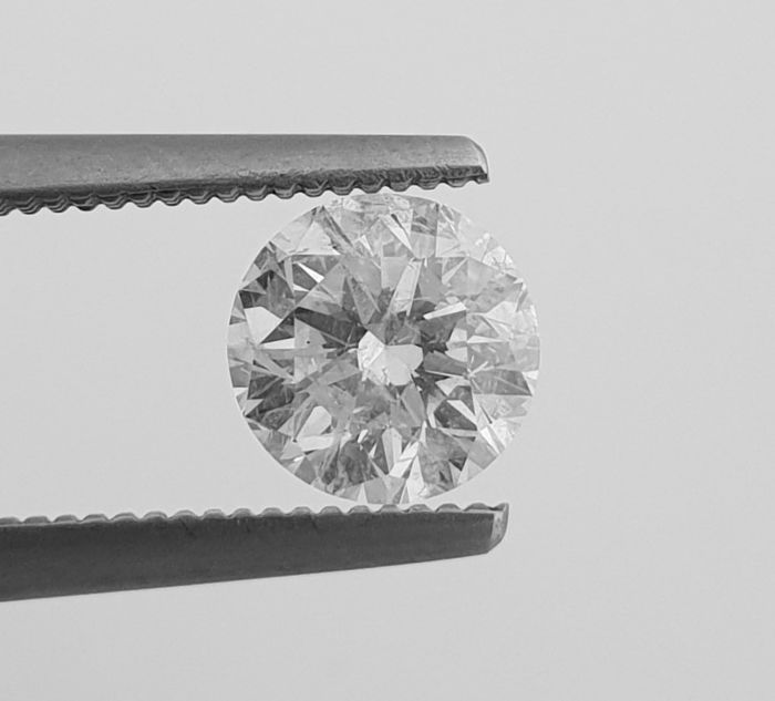 Diamant - 1.11 ct - Brillant - E - SI1