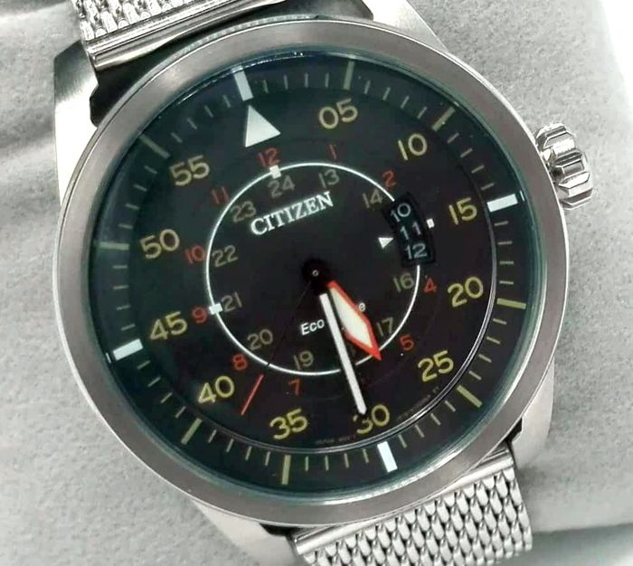 Citizen - 'NO RESERVE PRICE' - Aviator Limited Edition - Eco Drive - AW1365 - Heren - 2011-heden