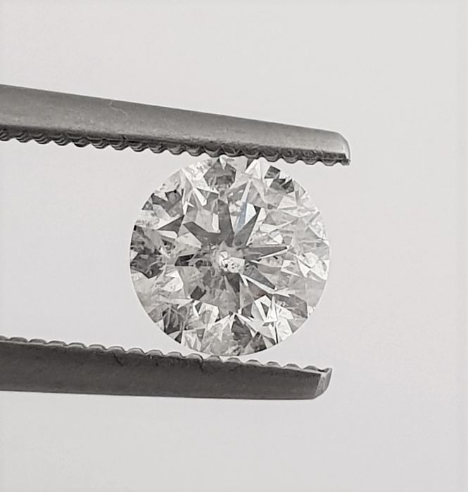 Diamant - 1.01 ct - Briljant - E - SI1