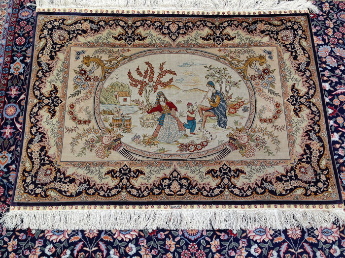 Hereke - Hunting tapestry - 77 cm - 108 cm
