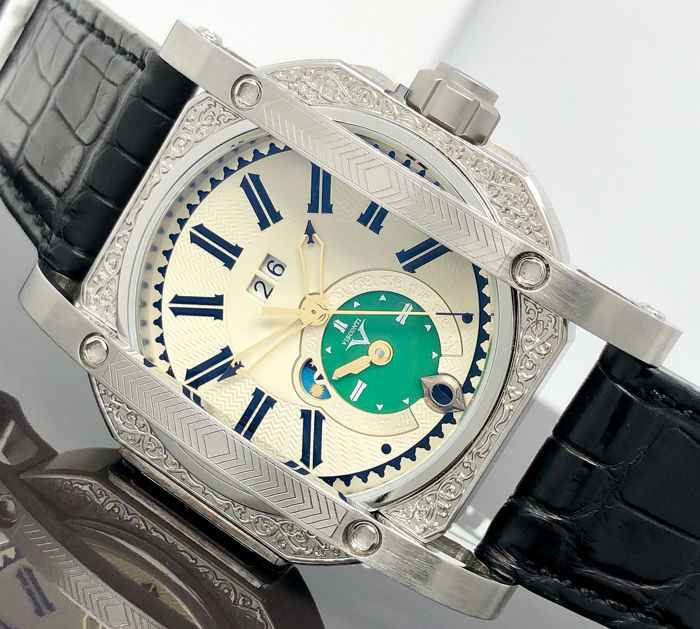 Visconti - Automatic GMT MECCA Silver Limited Edition  - W102-03-133-10 - Men - New