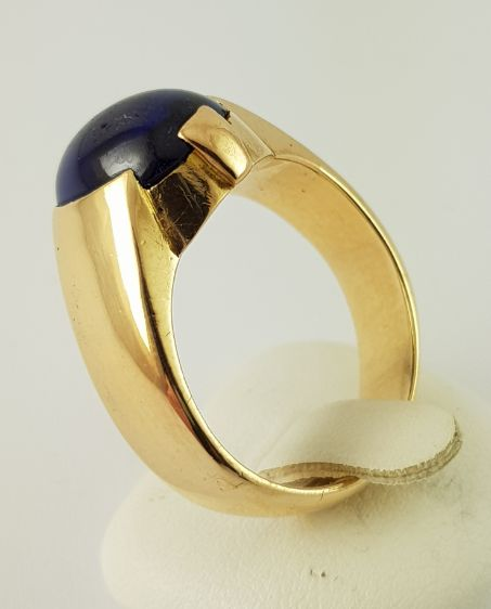 18 kt. Yellow gold - Ring - 3.30 ct Sapphire