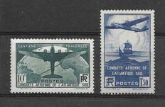 Frankreich 1938 - 100th crossing of the South Atlantic  1F50 + 10F - Yvert 320/321