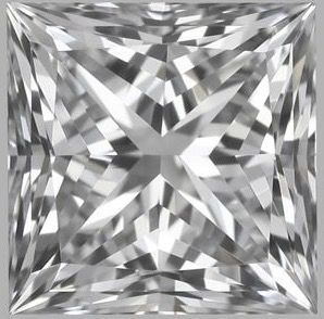 1 pcs Diamond - 0.57 ct - Princess - D (colourless) - IF (flawless)