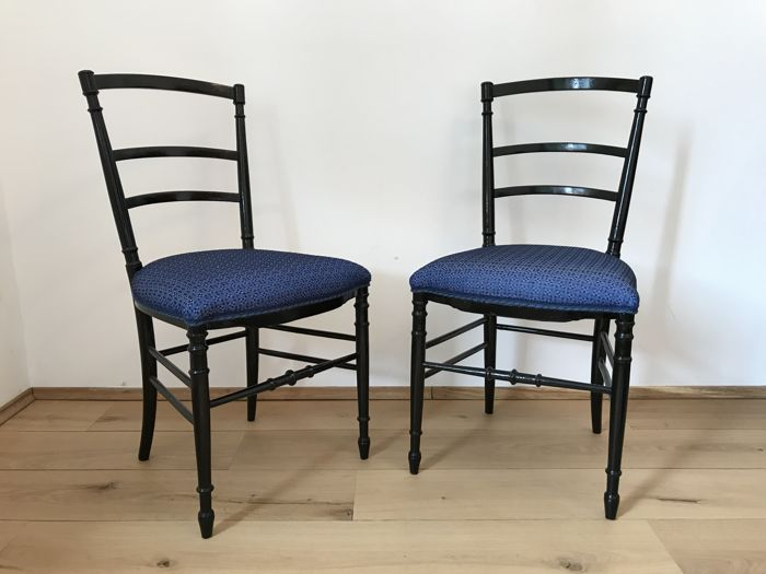 Two Chairs Of Chiavari   Early 20th Century