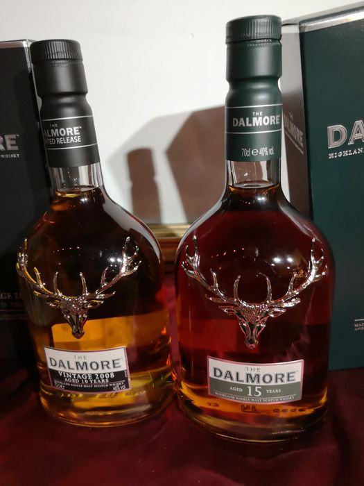 Dalmore 2008 & Dalmore 15 years old - 0.7 Litres - 2 bouteilles