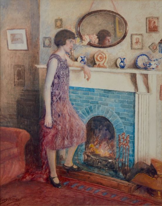 Harry Williams - Miss Lilian Lowe in an interior