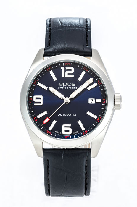 Epos - Mens Sportive Watch Blue dial Automatic  - 3411/F-BLU-ARAB - Mænd - 2011-nu