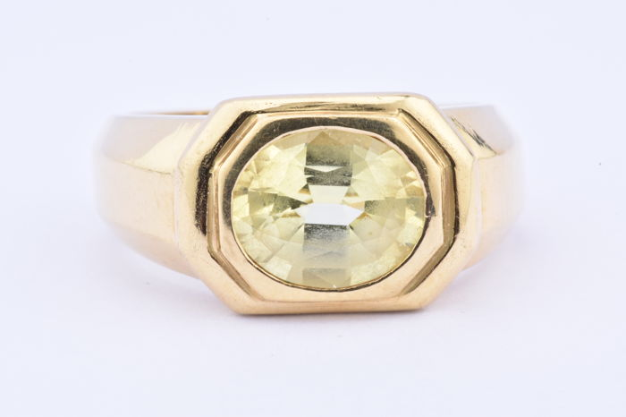 18 carats Or jaune - Bague - 1.80 ct Citrine