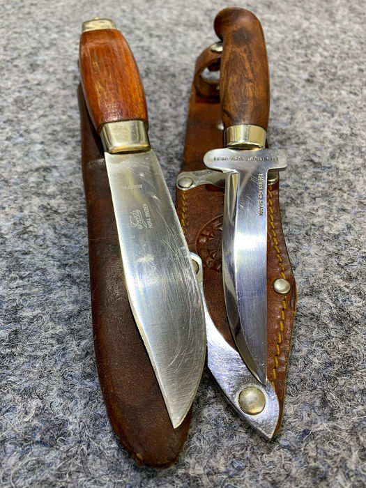 Zweden - Two Famous Swedish Knives ERIK FROST, MORA - 1930´ - Hunting - Mes