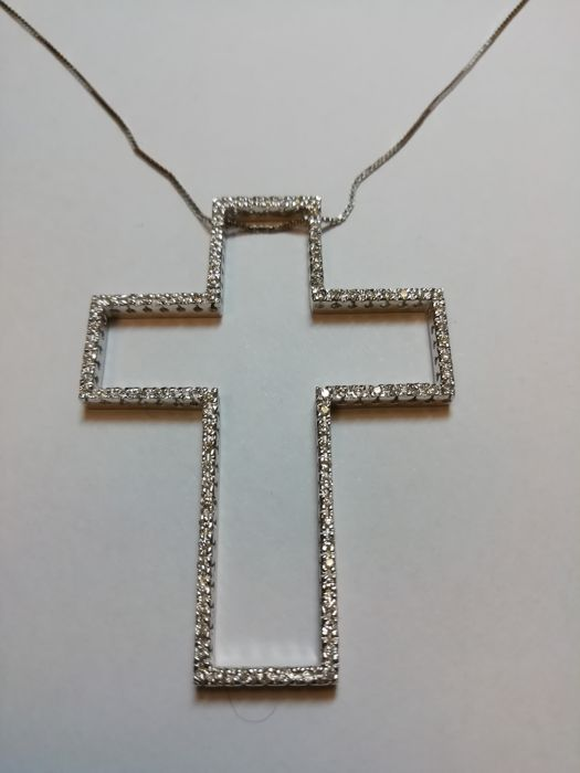 BPN S.p.A. - 18 kt. White gold - Necklace with pendant - 0.90 ct Diamond