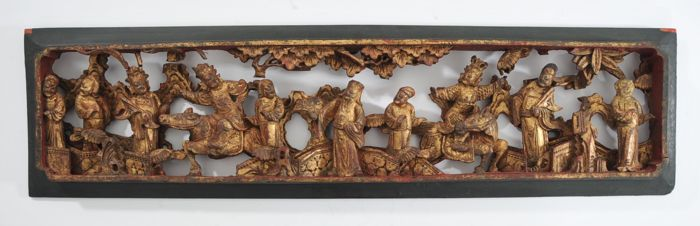 Panel - Wood - China - Qing Dynasty (1644-1911)