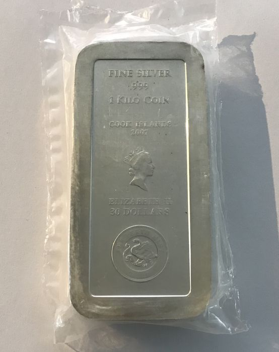 Cook Islands - 30 Dollar 2007 - 1 kg Münzbarren - Silver