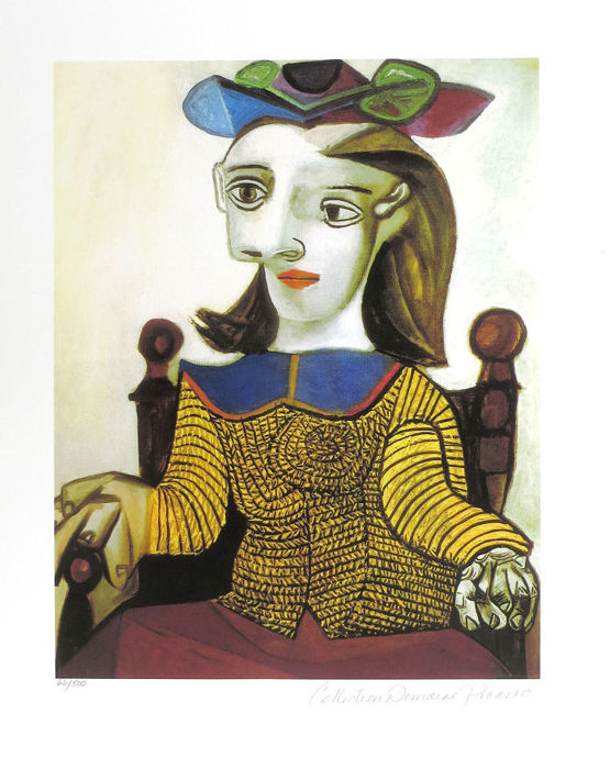 Pablo Picasso ( after ) - Seated Lady in Brown