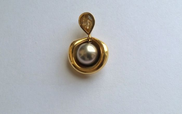 18 kt. Yellow gold - Pendant Mixed - Citrine