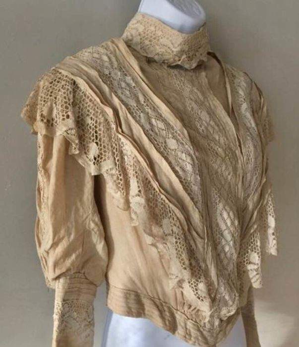 Blouse / Blouse - Victorian - Cotton, Dentelle  - Early 20th century