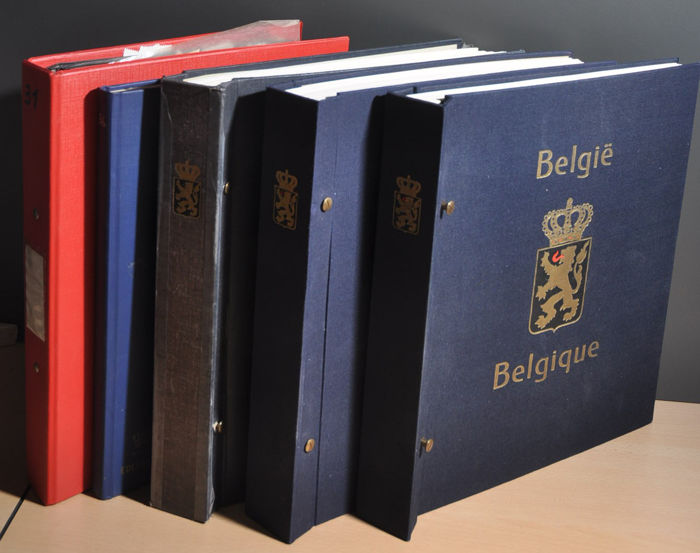 Belgium - Large batch in albums and stock books with, amongst others, 1950s, modern, classic and more