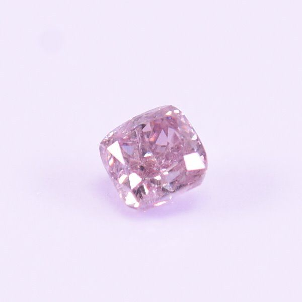 Diamante - 0.18 ct - Cuadrado - Fancy light greyish pink - SI2
