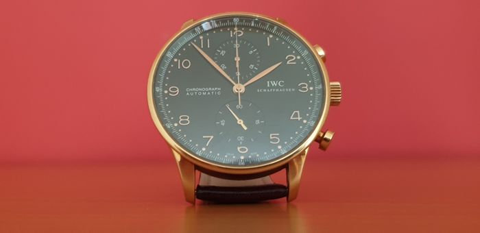 IWC - Portuguese Chronograph Gold  - IW371482 - Heren - 2000-2010