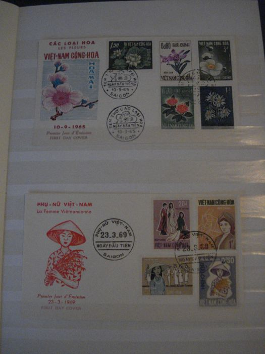 Vietnam - Viet Cong 1963-1976 1965/1972 - Lot of FDC stamps