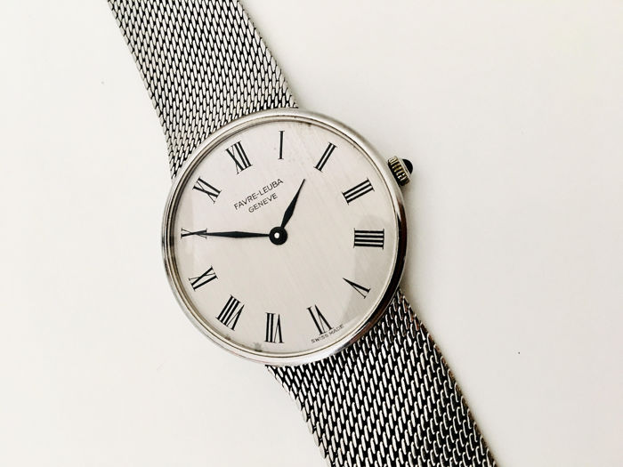 Favre-Leuba - Super Flat - Silver Dial - Elegant Gent's Dress Watch - Heren - 1970-1979