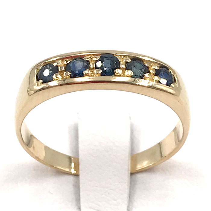 18 kt. Yellow gold - Ring - 0.25 ct Sapphire