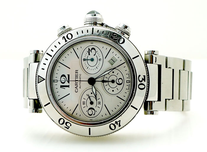 Cartier - Pasha Seatimer Chronograph - Ref. 2995 - Men - 2000-2010