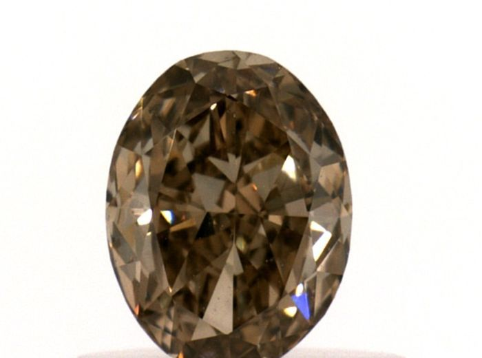Diamant - 0.51 ct - Ovaal - fancy brown - IGI Antwerp - No Reserve Price, VS1