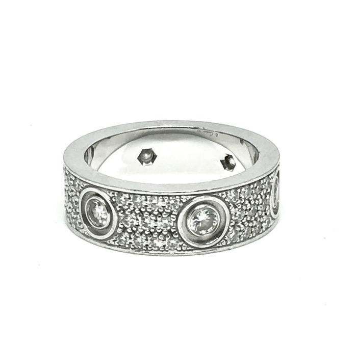 Cartier - 18 kt. White gold - Ring - 0.60 ct Diamond - Diamond