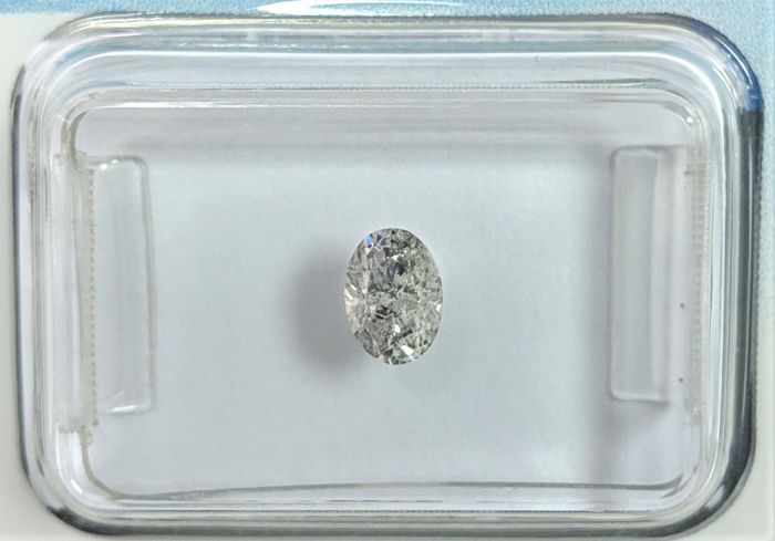 Diamant - 0.36 ct - Ovaal - I - IGI Antwerp - No Reserve Price