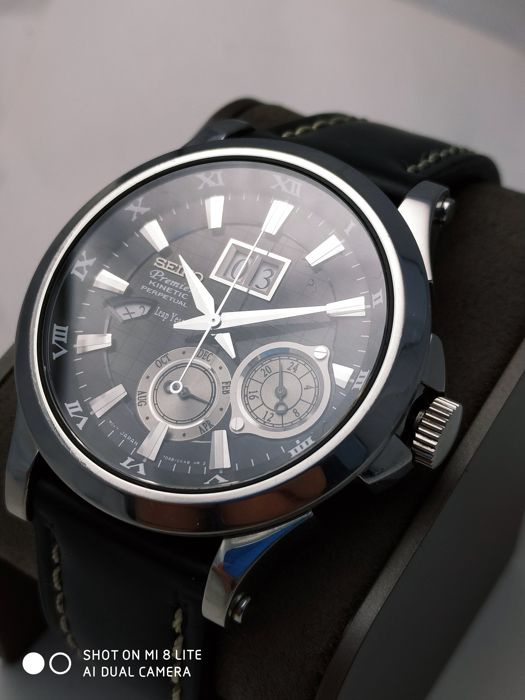 Seiko - Kinetic PERPETUAL CALENDAR leap year - SNP005P1 - Unisex - 2011-heden