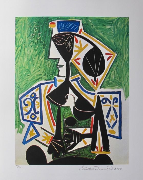 Pablo Picasso ( after ) - Woman in Green .