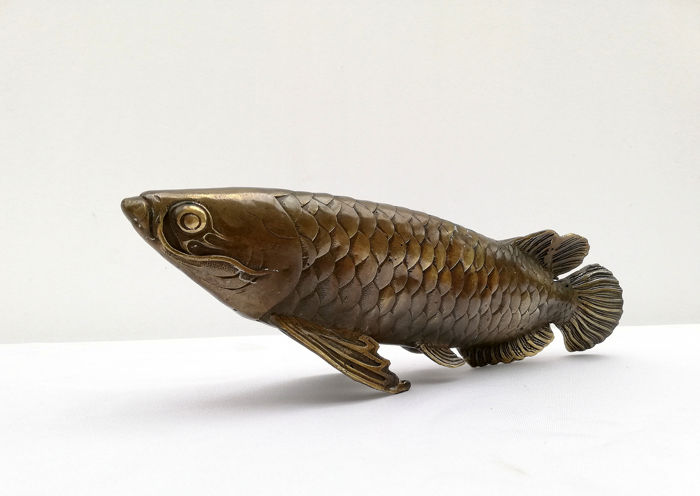 Arowana fish - Bronze - Asia - Second half 20th century