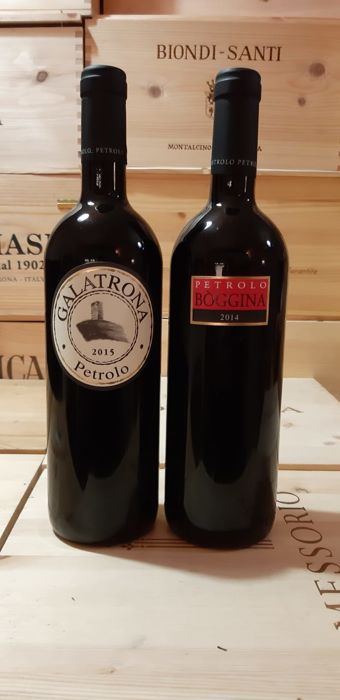"Mixed lot -  2015 Petrolo ""Galatrona"", 2014 ""Boggina""  - Tuscany - 2 Bottle (0.75L)"