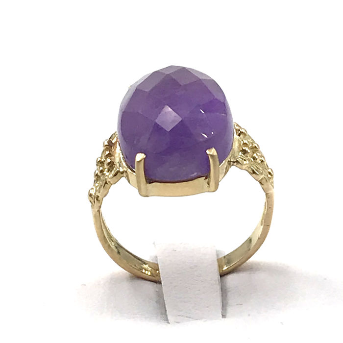 18 kt. Yellow gold - Ring - 7.90 ct Amethyst