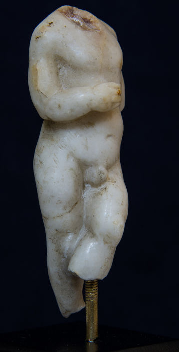 Ancient Roman Marble Torso of Eros - 9×3×4 cm