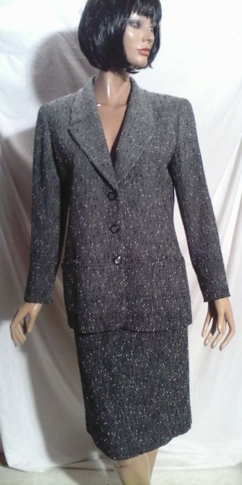 Gianfranco Ferre - Taille laine tweed gris